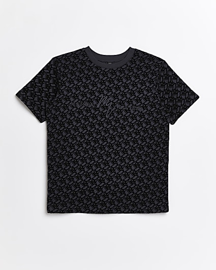 Boys black Maison Rivera t-shirt