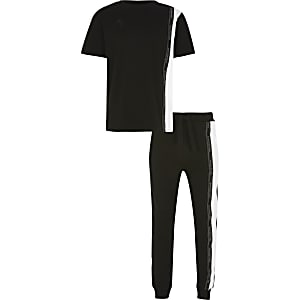 Boys black Maison Riviera outfit