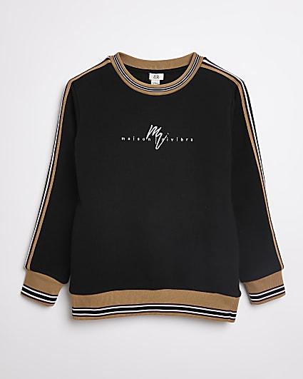 Boys black Maison Riviera sweatshirt