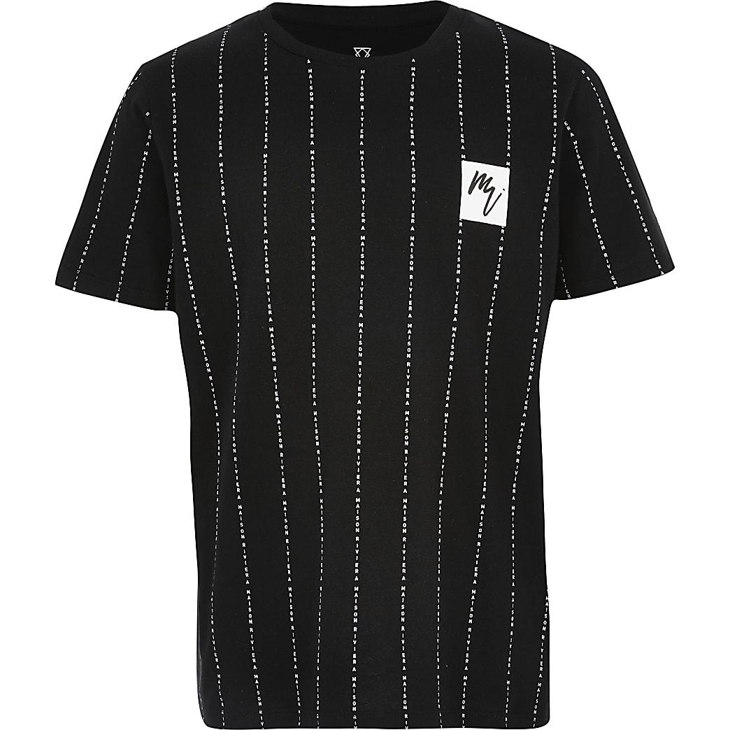 Boys black Maison Riviera T-shirt