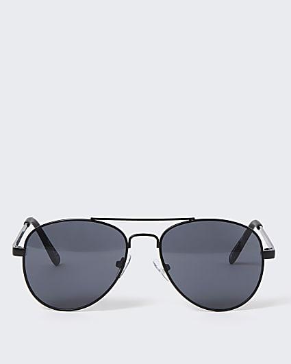 Boys black matte aviator sunglasses