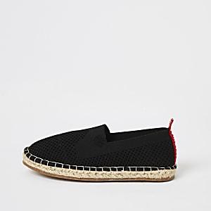 MCMLX– Sandales espadrilles en maille noires pour garçon