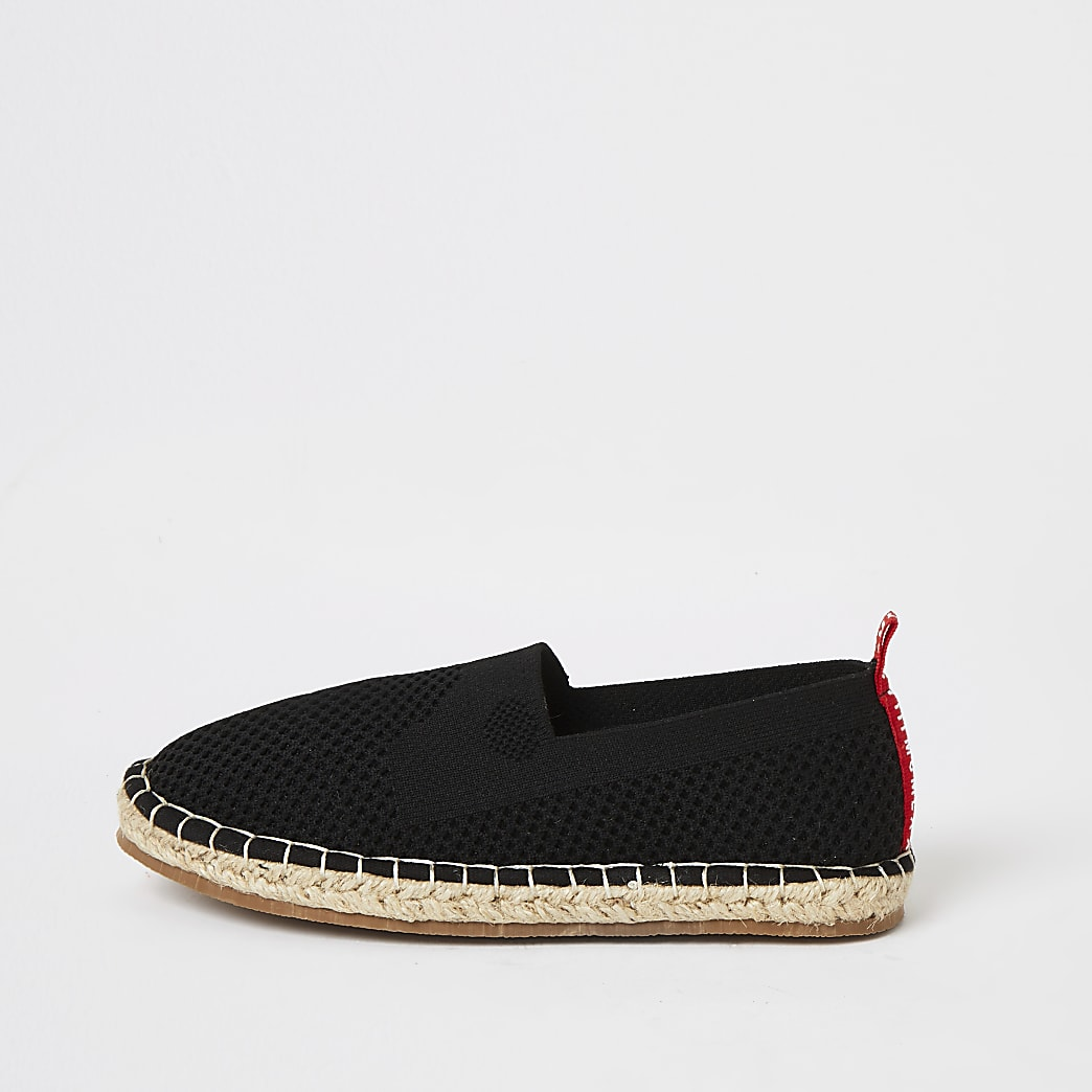 Boys black MCMLX knitted espadrille sandals