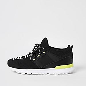 SVNT – Schwarze Mesh-Sneaker für Jungen