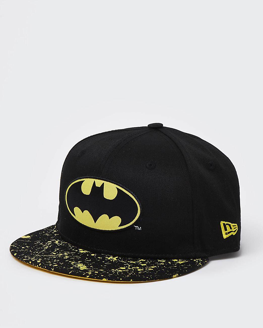 Boys black New Era Batman cap