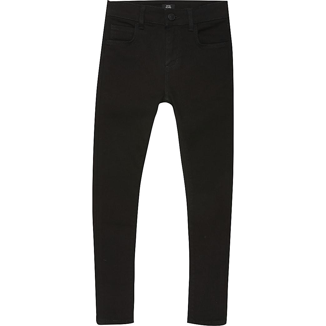 Boys black Ollie spray on skinny jeans