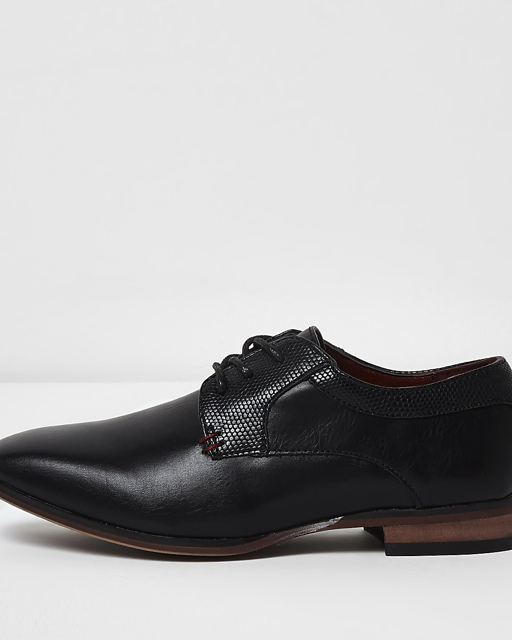 Boys black pointed shoes
