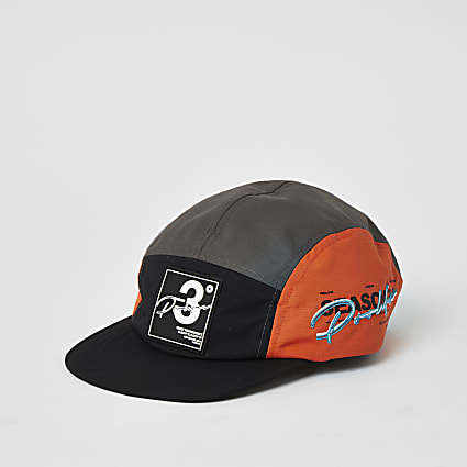 Boys black Prolific colour block cap