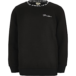Prolific– Schwarzes Sweatshirt mit Rundhalsausschnitt