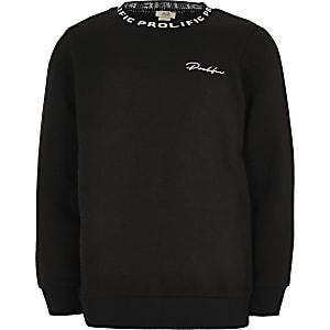 Prolific - Zwarte sweater met ronde kraag voor jongens