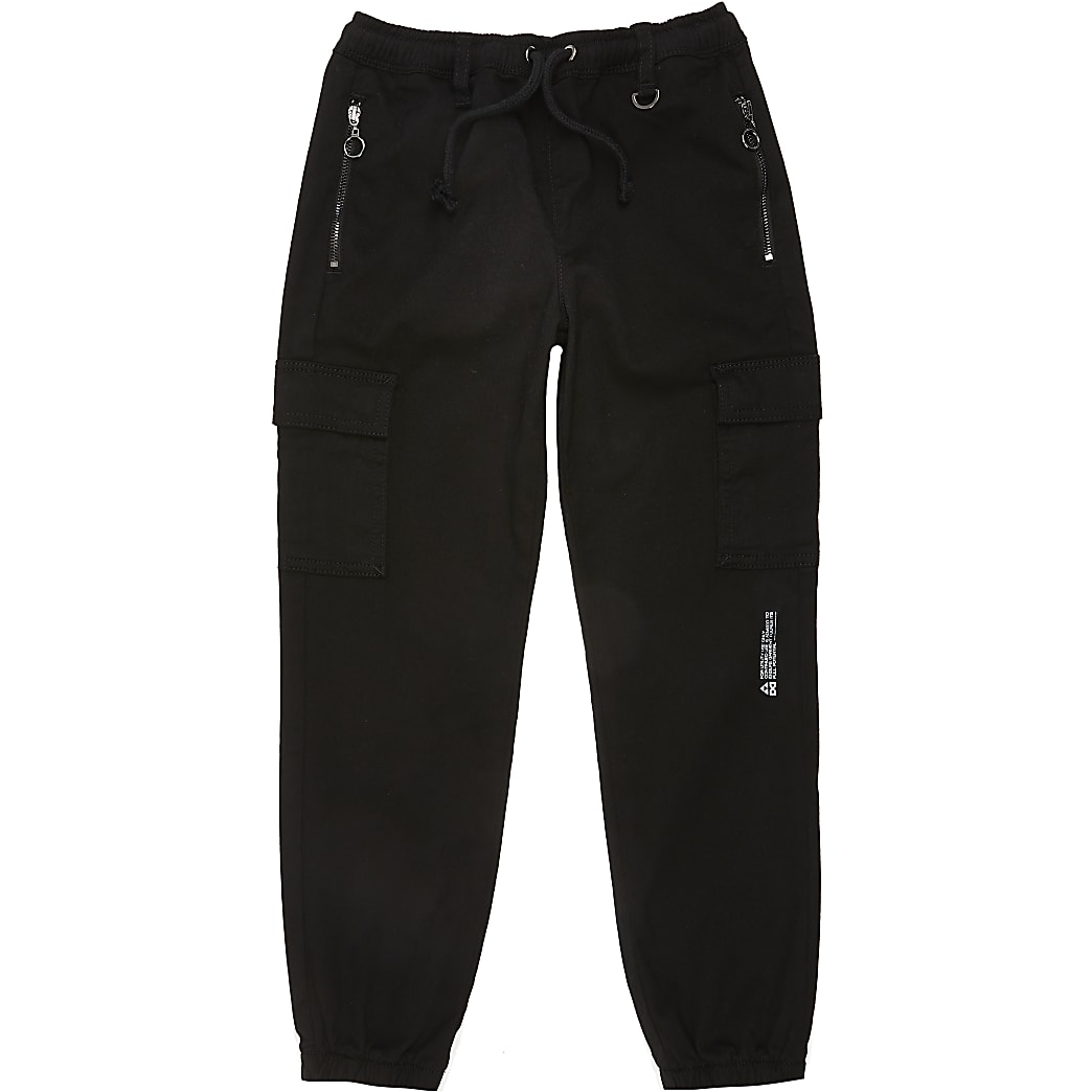 Boys black Prolific utility joggers