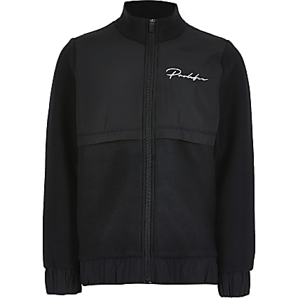 Boys black Prolific zip through jacket