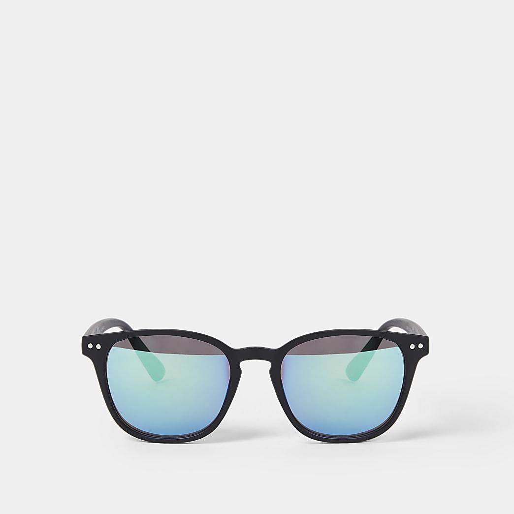 Boys black retro sunglasses