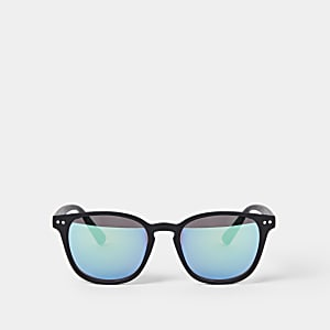 Boys black retro sunglasses