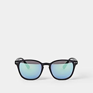 Zwarte retro zonnebril voor jongens