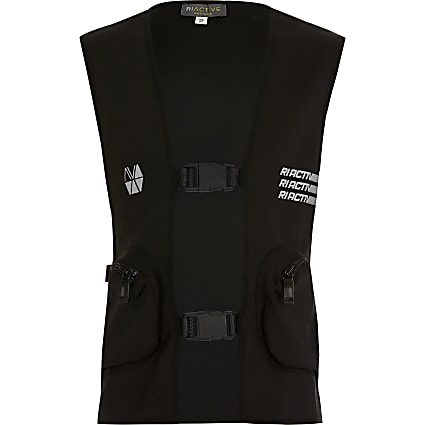 Boys black RI Active utility vest
