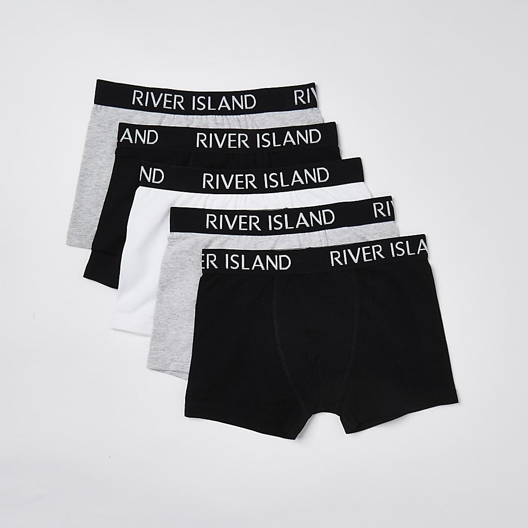 Boys black RI boxers 5 pack