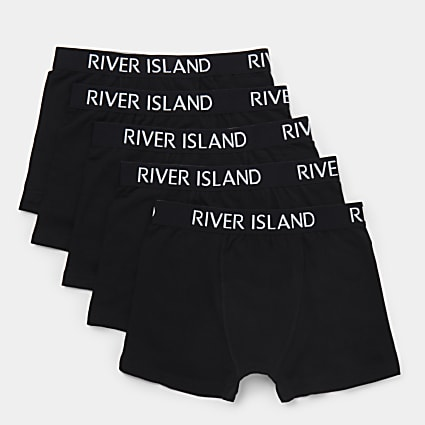 Boys black RI boxers 5 pack