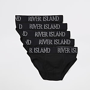 Boys black RI briefs 5 pack