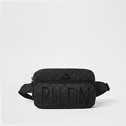 Boys black RI front pocket bum bag