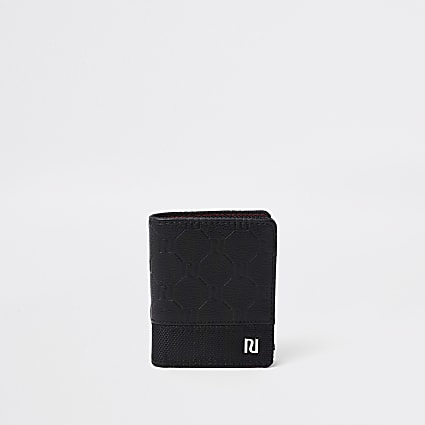 Boys black RI monogram wallet