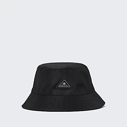 Boys black RI nylon bucket hat