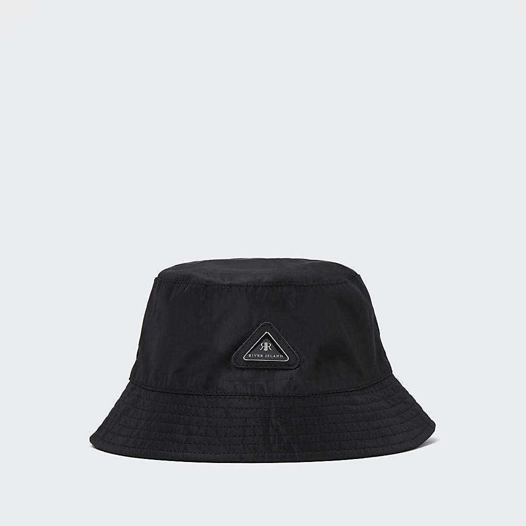 Boys black RI nylon bucket hat