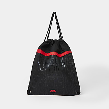 Boys black RI nylon gym bag