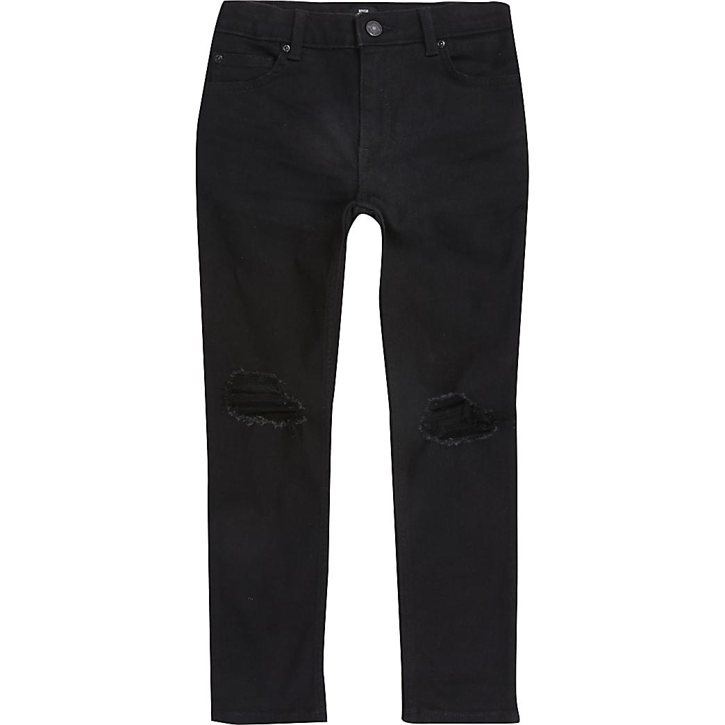 Sid - Zwarte ripped skinny jeans voor jongens