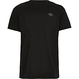 RIR – Schwarzes T-Shirt mit Aufnäher für Jungen
