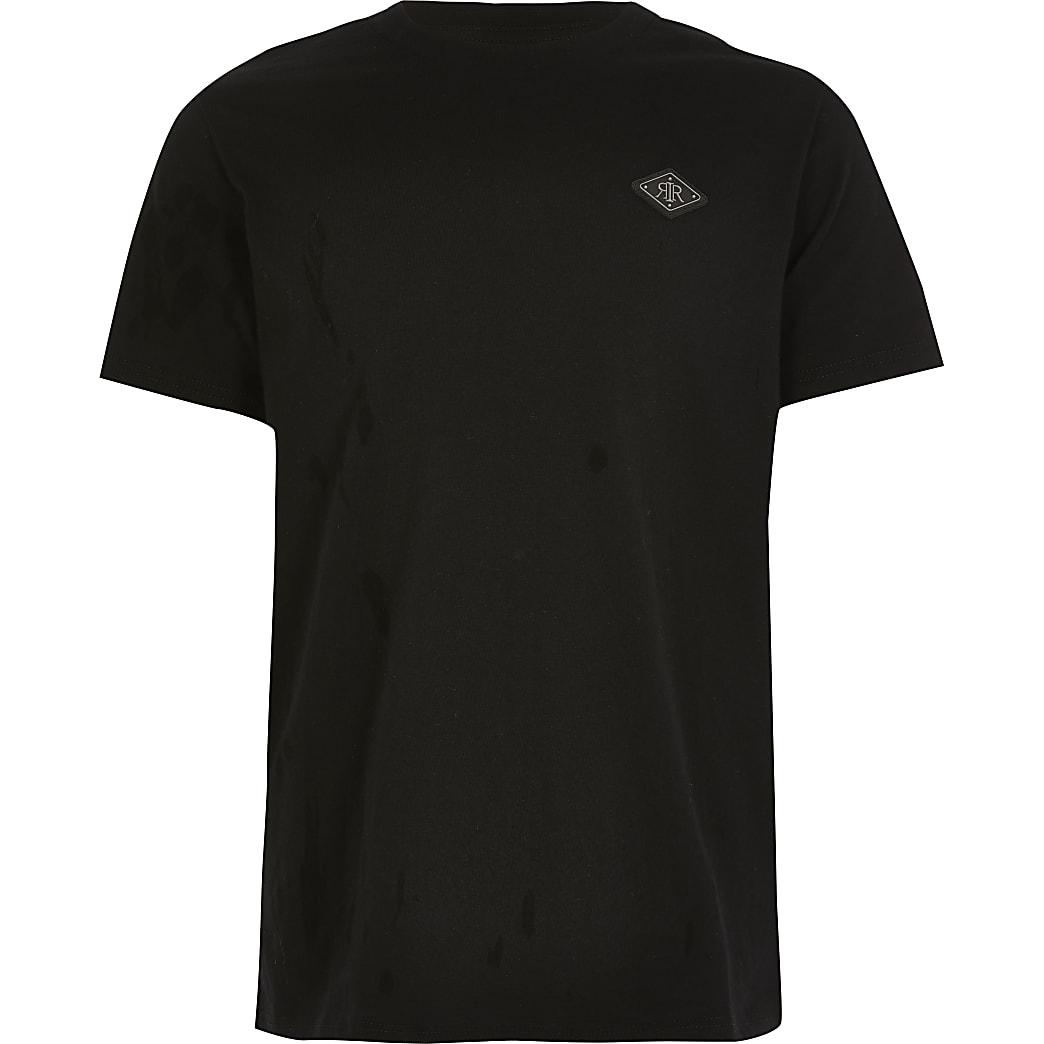 Zwart T-shirt met RIR embleem voor jongens