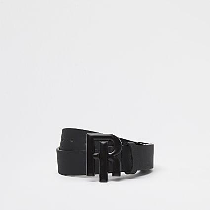 Boys black RIR enamel belt