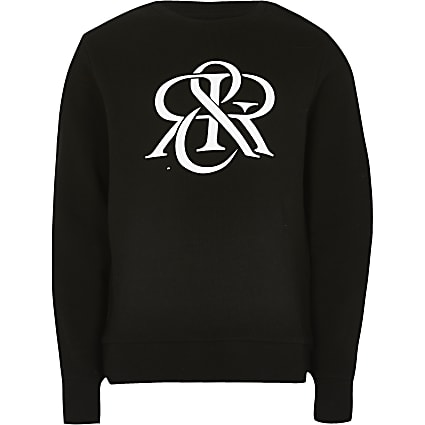 Boys black RIR sweatshirt