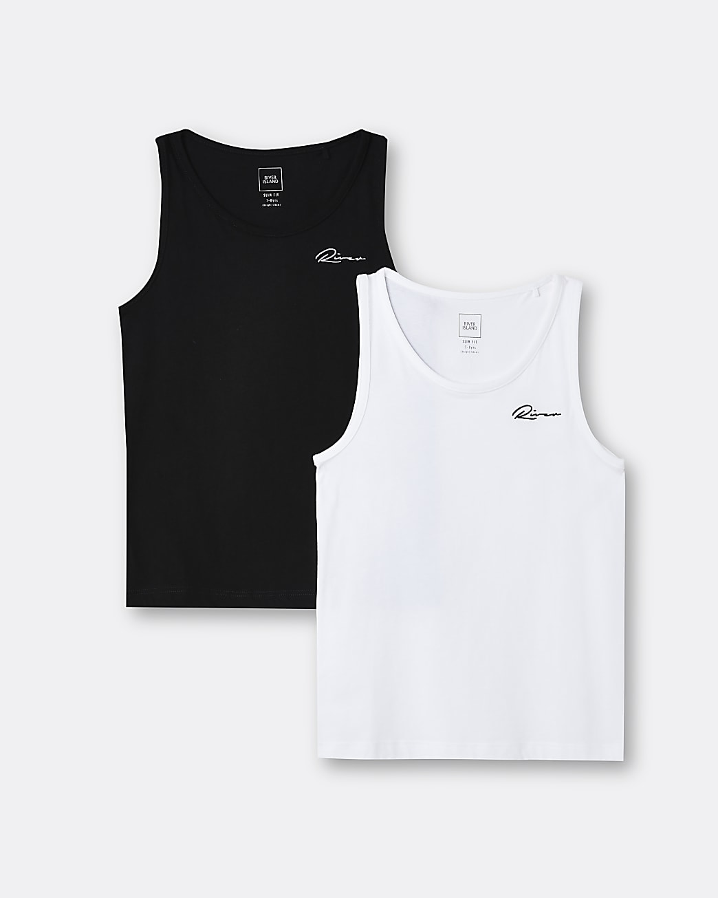 Boys black River vests 2 pack