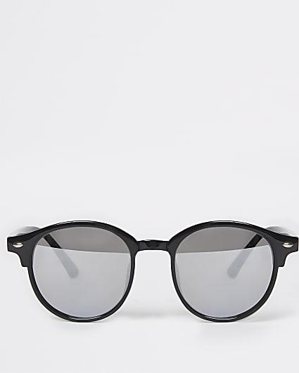Boys black round frame sunglasses