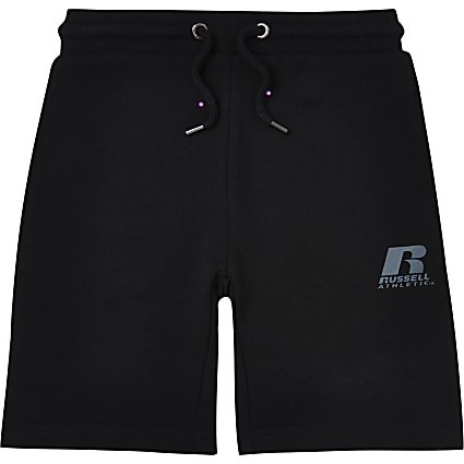 Boys black Russel Athletic shorts