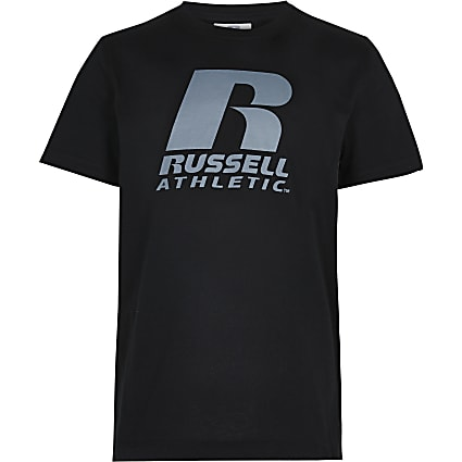 Boys black Russell Athletic t-shirt