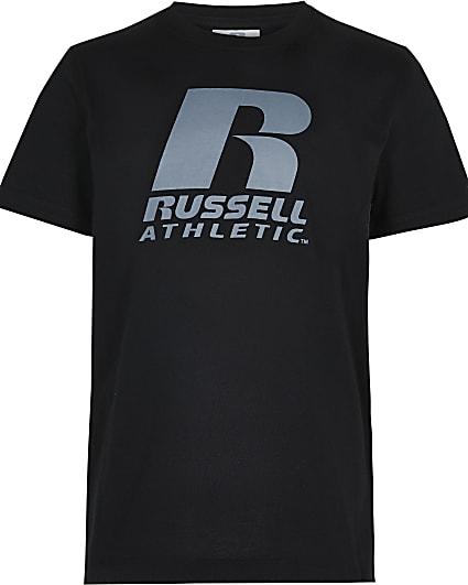 Boys black Russell Athletic t-shirt