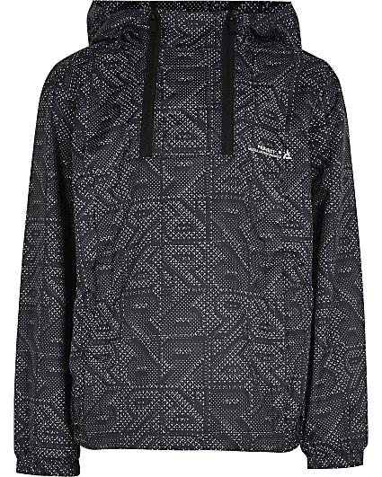 Boys black RVR hooded jacket