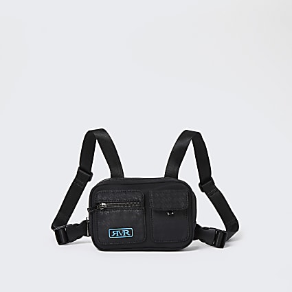 Boys black RVR mesh nylon chest pack