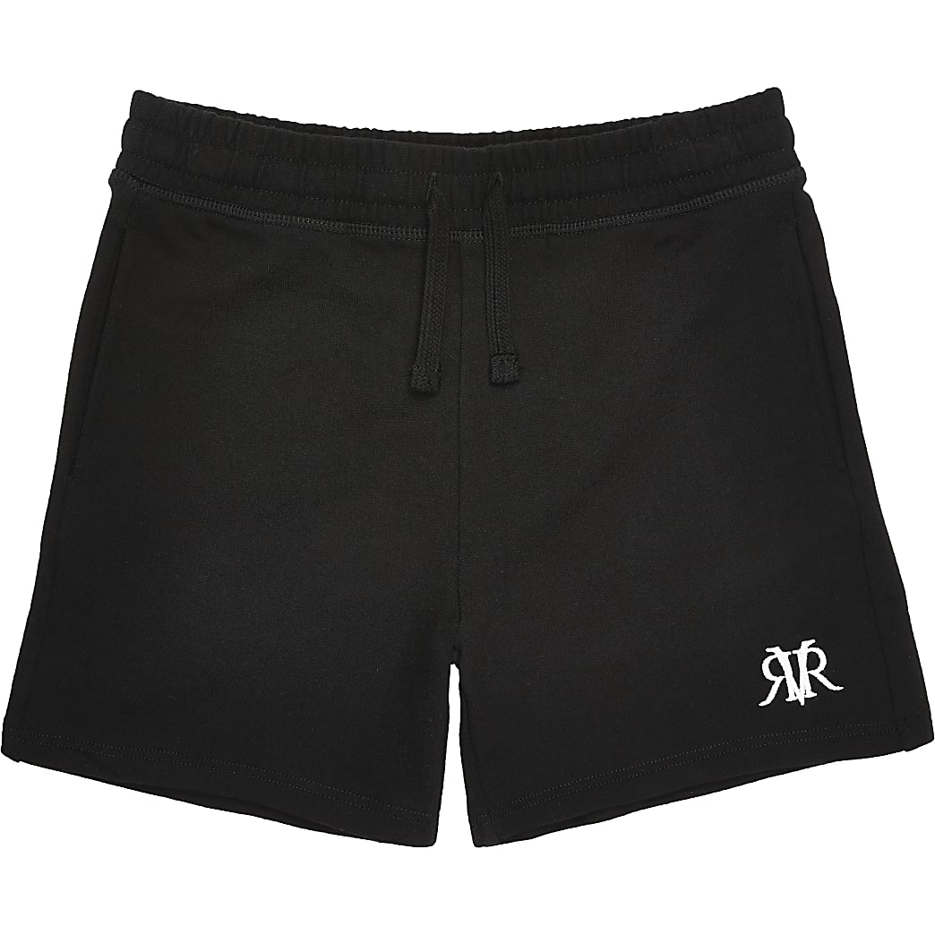 Boys black RVR shorts