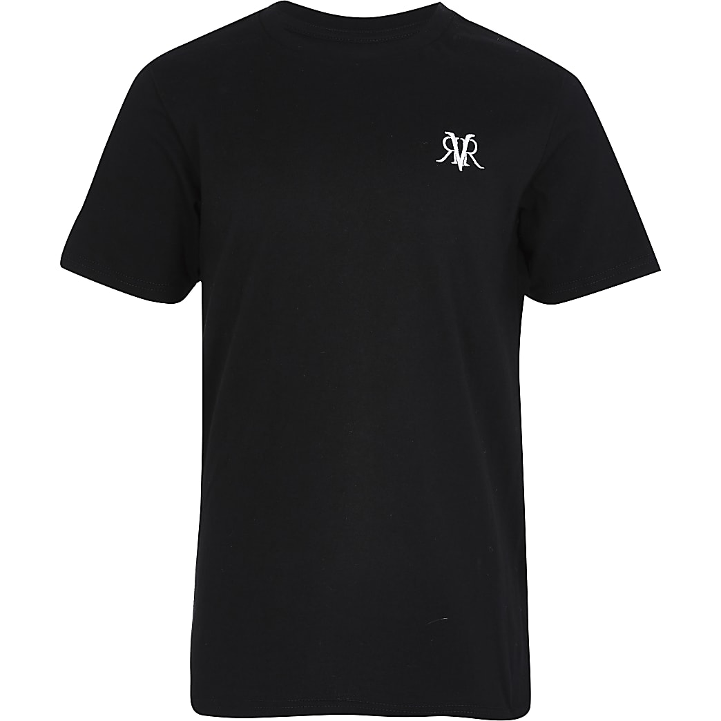Boys black RVR T-shirt