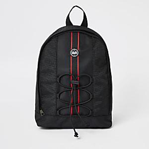 Grand sac à dos noir à bandes RVR pour garçon