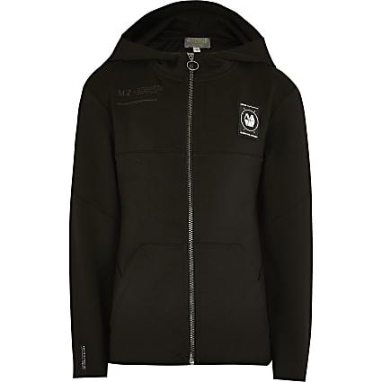 Boys black scuba RI Active zip hoodie