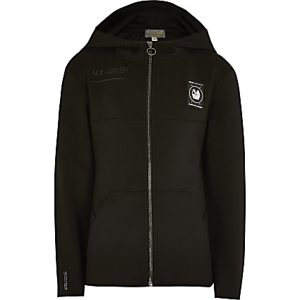 Boys black scuba RI Active zip up hoodie