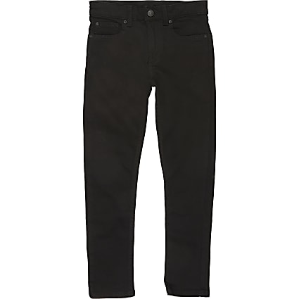 Boys black Sid skinny fit jeans