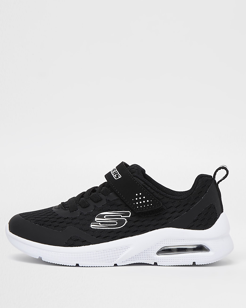 Boys black Skechers lace up trainers