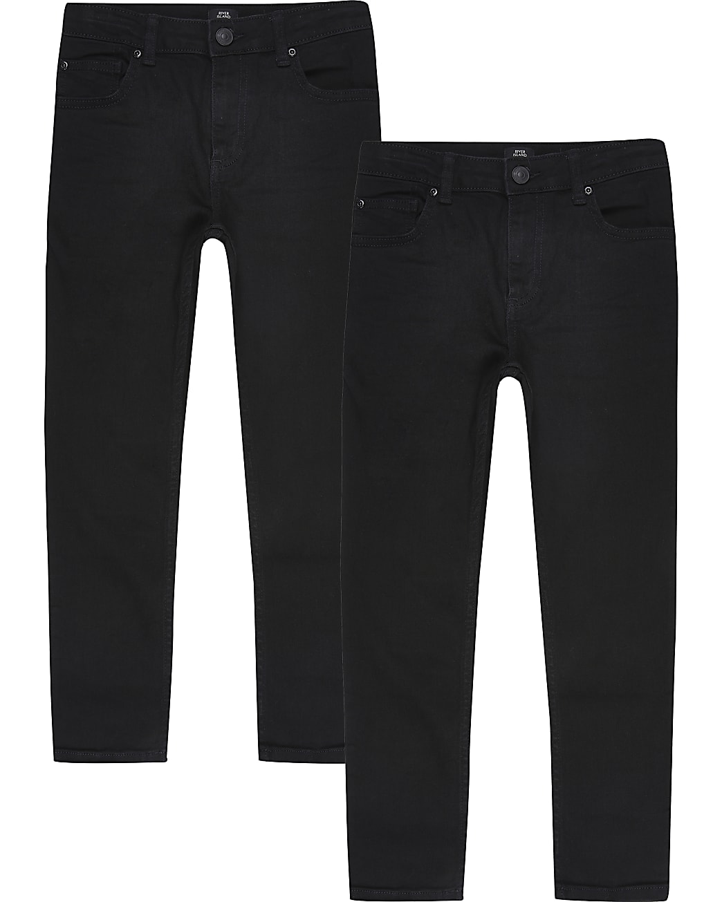 Boys black skinny fit jeans 2 pack