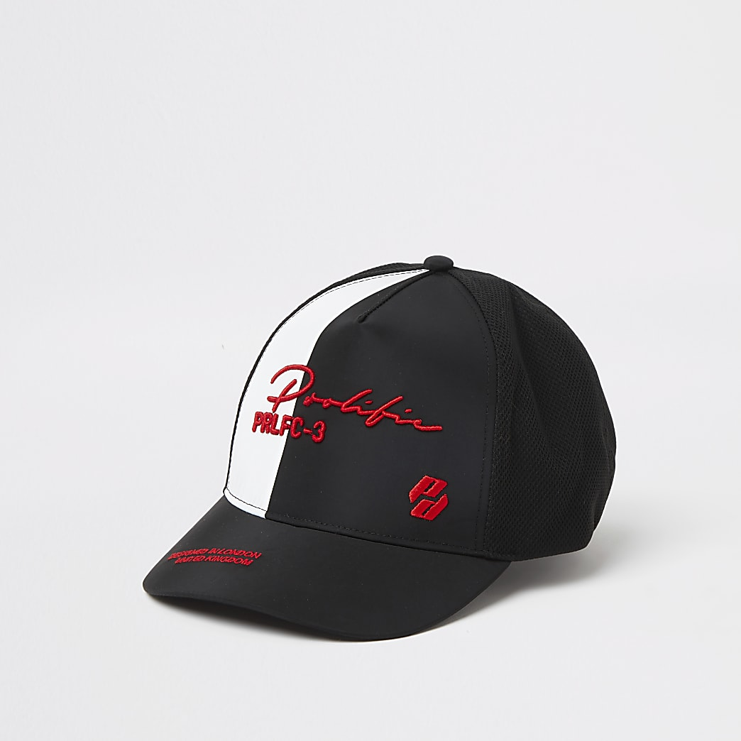 Boys black spliced block party cap