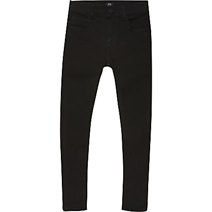 Boys black spray on skinny jean